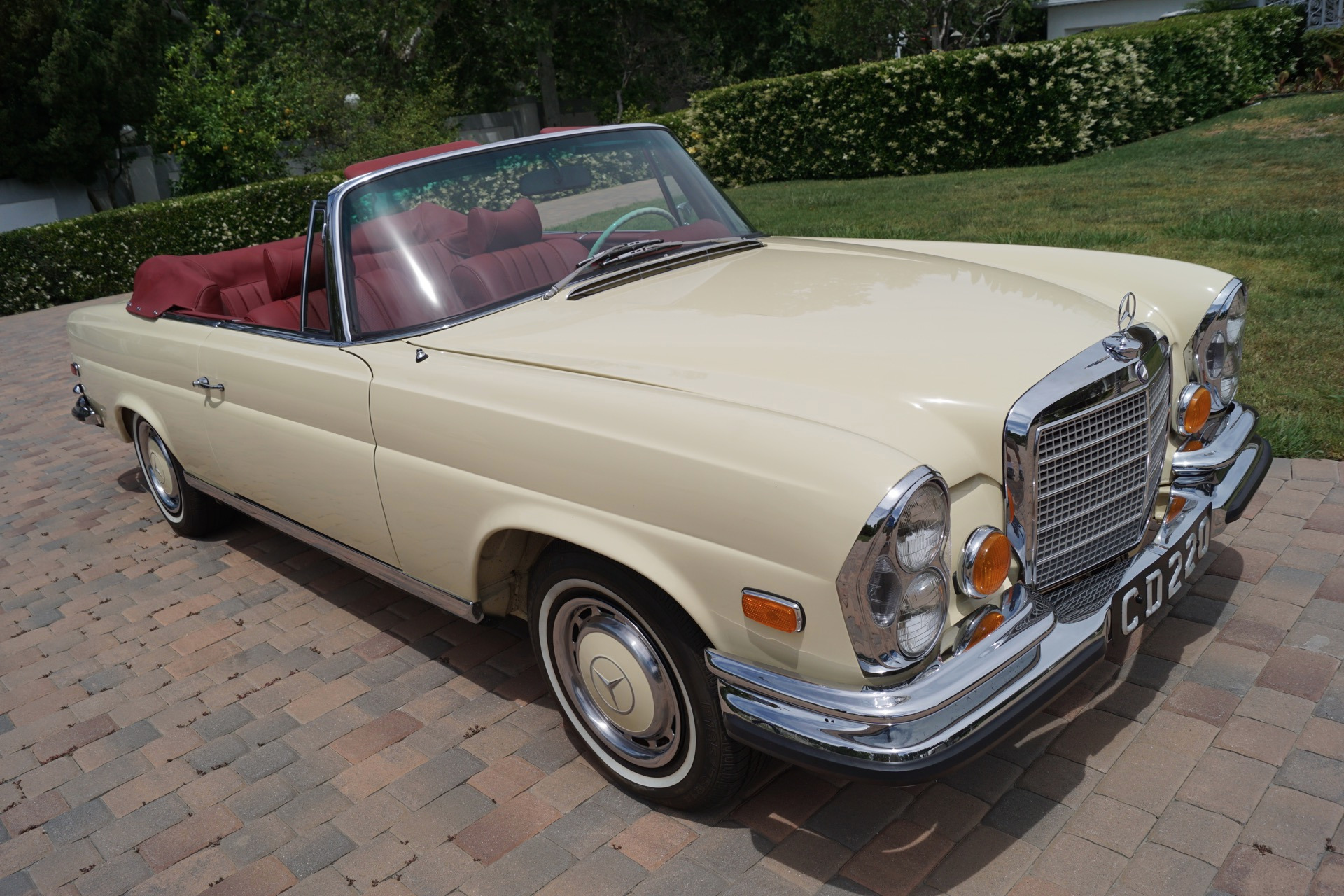 1971 mercedes benz 280se red leather stock 198 for sale for Mercedes benz torrance ca