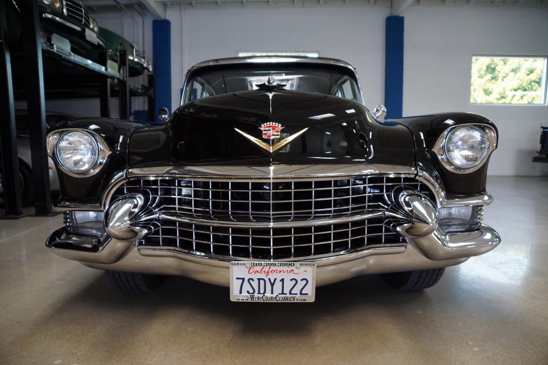 1955 Cadillac Series 60 Fleetwood Black Gray Leather Stock 298